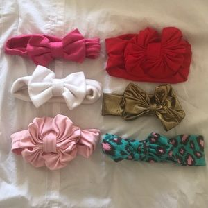 Other - Lot of 6 oversized custom made bow headbands
